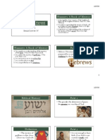 Hebrews LFBI survey ppt
