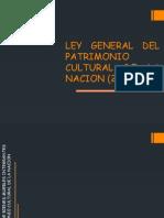 Ley General Del Patrimonio Cultural de La Nacion