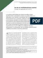 Peculiaridades de un multilateralismo austral Argentina en el Consejo de Seguridad 2013-2014