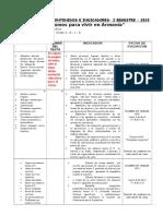 Modelo de Hoja de Contenidos de Inicial y Primaria 2015