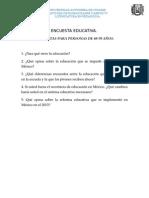 Encuesta Educativa