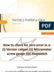 Physics Paper 6 QA Cards