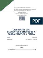 Diseños de Los Elementos sometidos a carga estatica y fatiga