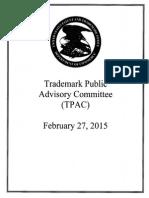 USPTO TPAC Agenda - February 27, 2015
