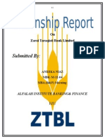 internship report on ZTBL by Aneeka niaz