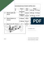 Jadual Penggunaan Bilik Muzik Skfma 2015