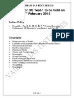Vajiram Ias Test Series 2015