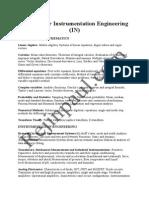 Syllabus for Instrumentation Engineering
