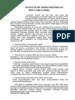 Terminologi Ilmu Kesejahteraan Keluarga