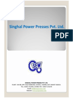 Singhal Power Presses Pvt. Ltd. Presentation