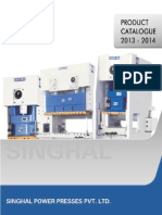 Singhal Power Presses - SEW Product Brochure