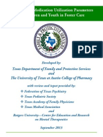 Psychotropic Medication Utilization Parameters for Children and Youth in Foster Care 2013