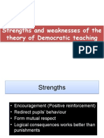 Strengths and Weaknesses of the Theory of Democratic 2nd Draft