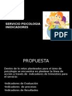 Indicadores Servicio de Psicologia