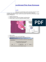 ArcGIS_Georeferensi Peta Scan Kawasan Hutan