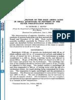 Determination of Basic Amino Acids