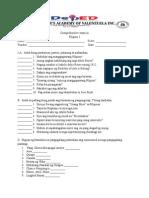 Comprehensive Exam in Filipino 5