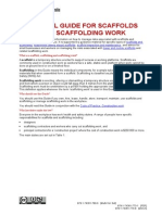Scaffolds Scaffolding Work General Guide 1