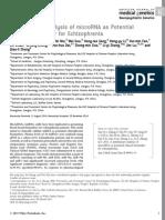 A Preliminary Analysis of MicroRNA as Potential Clinical Biomarker for Schizophrenia