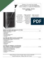 Danby Free Standing Beverage Center - DBC120BLS - User's Manual