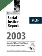 Social Justice Report 2003