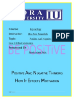 Positive and Negative Thinking How It Effects Motivation(1)