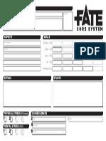 Fate Core Character Sheet