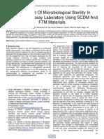 Assessment of Microbiological Sterility in Radioimmunoassay Laboratory Using Scdm and Ftm Materials
