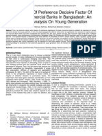 Assessment of Preference Decisive Factor of Private Commercial Banks in Bangladesh an Empirical Analysis on Young Generation
