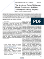 Comparison of the Nutritional Status of Cikoang Community Maudu Practitioners and Non Practitioners in Mangarabombang Regency