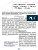 The Effect of Strategic Partnership on Innovation Capability and Business Performance of Garment Industry in West Java Indonesia