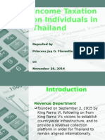 Personal Income Tax of Thailand