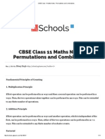 CBSE Class 11 Maths Notes _ Permutations and Combinations