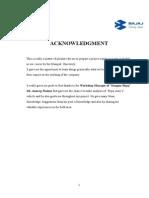 bajaj project report