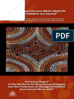 Inquiry Into the Protection of Aboriginal Children From Sexual Abuse Summary