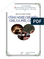 Công Nghệ thực hành Sản Xuất Chè Cà Phê, CA Cao