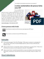 Como Desativar o Aviso Automático de Pouca Tinta Em Uma Impressora HP _ EHow Br