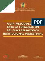 Plan Estrategico Prefecturas Metodologia