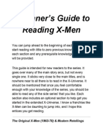 Beginners Guide to Reading X-Men