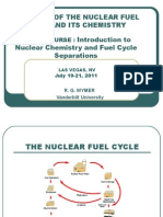 01 Overview of the Nuclear Fuel Cycle and Its Chemistry