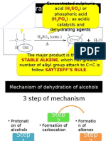 Mechanism of Dehydration of Alcohols