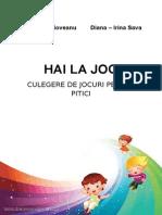 Hai La Joc, Culegere de Jocuri Pentru Copii - Secțiunea II