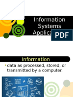 Topic1 Information Systems Applications