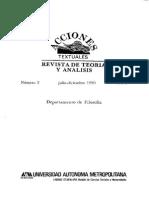 Revista Teoria y Análisis - Acciones