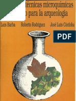 Manual de técnicas microquímicas de campo para arqueología