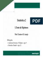 1.2 Testes de Hipótese - 1a Parte