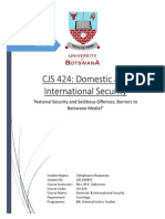 National Security and Seditious Offences; Barriers to Botswana Media?