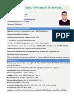 CV Ingénieur Systèmes et réseaux197082