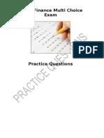 Event Finance Practice Multi Choice Exam Sem 2 2012-13