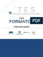 Manual Formator TES PODCA Reviziuit